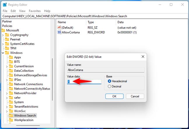 Activarea Cortanei în Windows 11