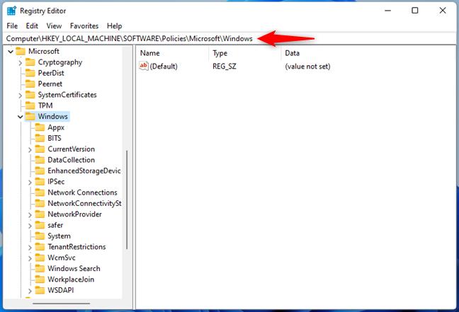 Navigare în Registrul Windows