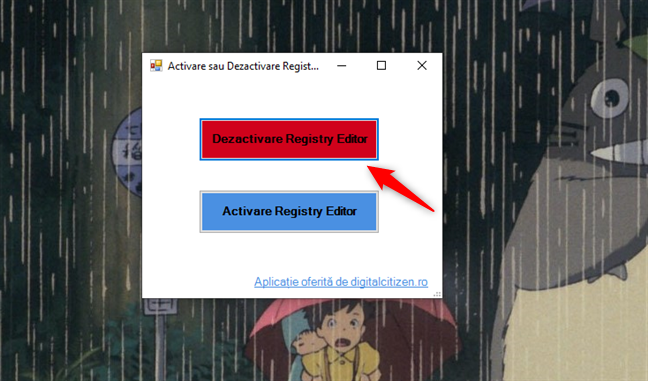 Dezactivare Registry Editor