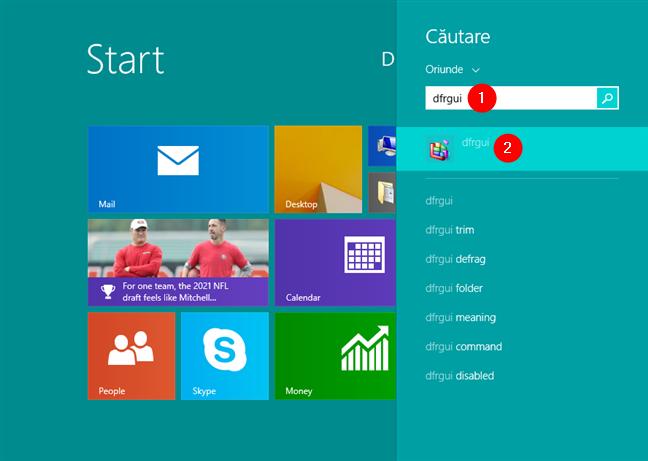 Caută dfrgui în Windows 8.1
