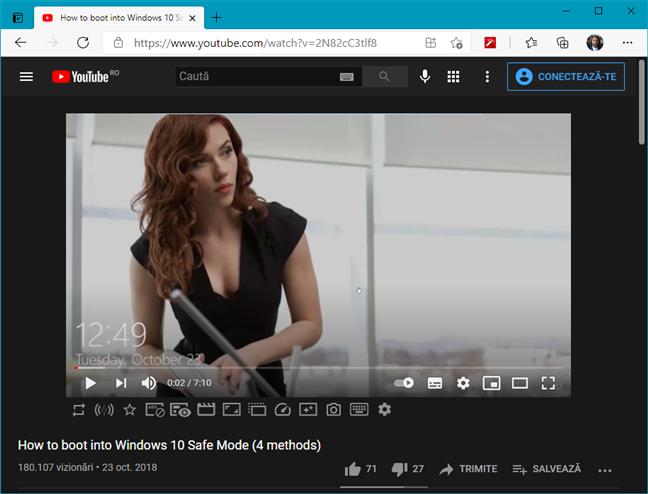 Extensia Enhancer for YouTube pentru Edge