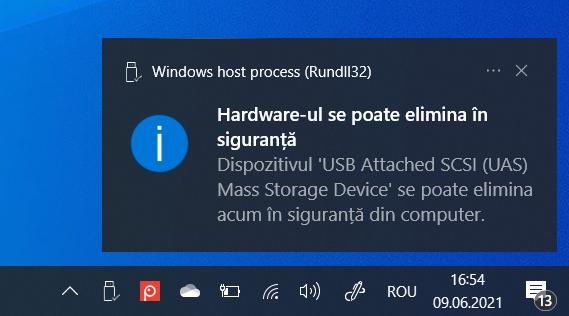 Hardware-ul se poate elimina în siguranță