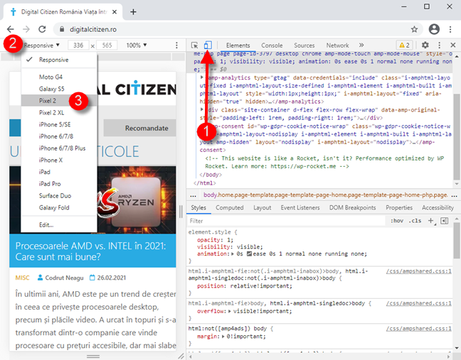 Activează emulatorul de browsere mobile în Google Chrome