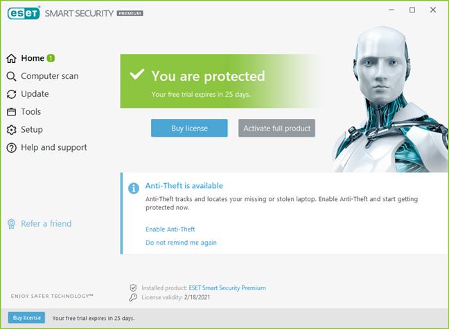 Interfața de utilizare a ESET Smart Security Premium