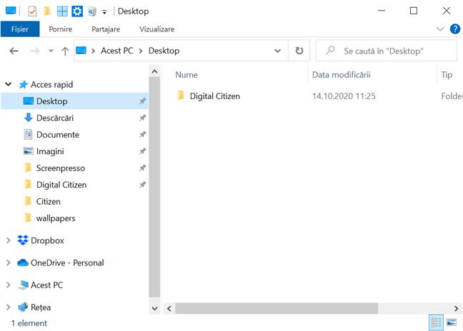 Obții mai mult spațiu pe ecran minimizând panglica din Explorer