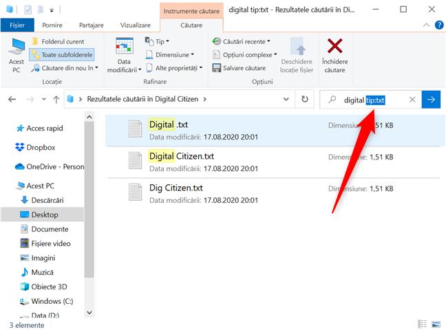 Filtrele din Alte proprietăți necesită ca utilizatorul să completeze detalii