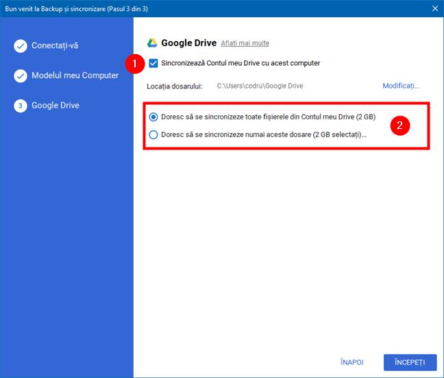 Opțiuni de sincronizare Google Drive pe calculatorul tău