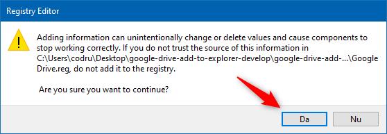 Aprobarea instalării noului fișier registru