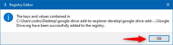 Cheile de registru pentru Google Drive au fost adăugate la Registrul Windows