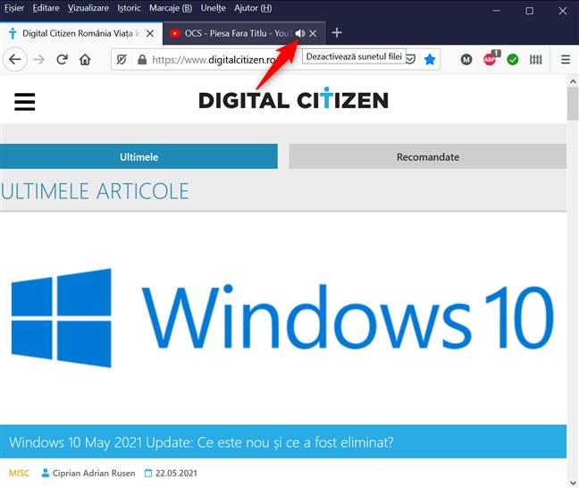 Cum dezactivezi sunetul unei file din Firefox cu o singură apăsare
