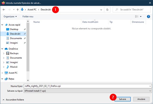 Salvarea extensiei de browser Ruffle pentru Firefox (Flash)