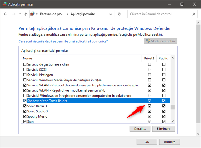 Configurarea permisiunii unei aplicații (joc) de a trece de firewall, pentru a se putea conecta la internet