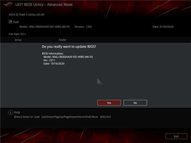 Actualizare de firmware pentru o placă de bază (update UEFI BIOS)