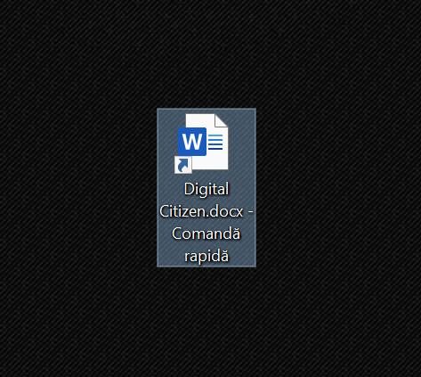 Mută-ți scurtătura pe desktop în Windows 10