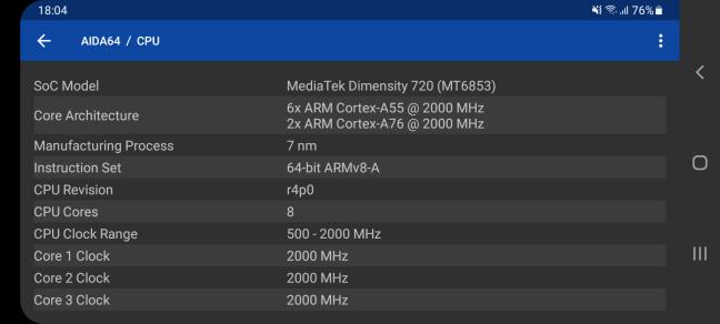 Detalii despre procesorul din Samsung Galaxy A32 5G