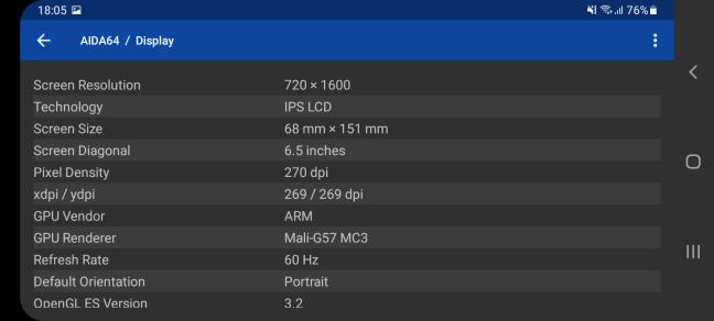 Samsung Galaxy A32 5G: Detalii despre ecran