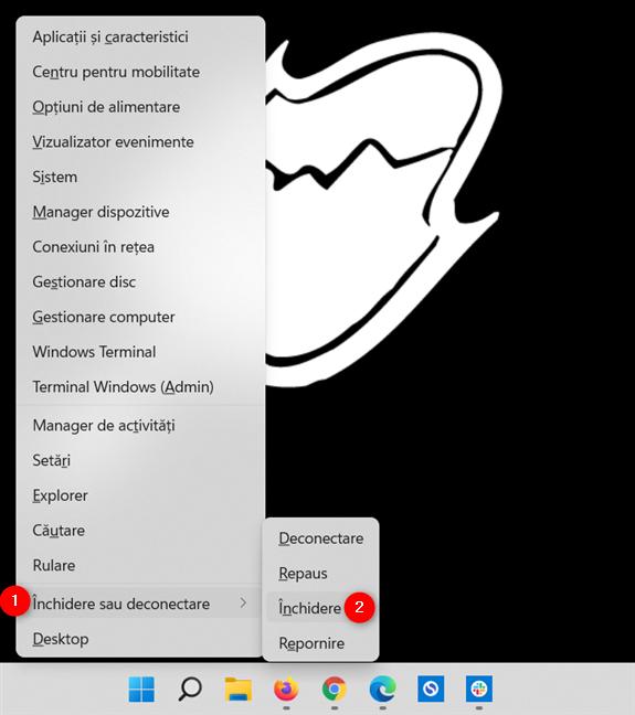 Cum închizi Windows 11