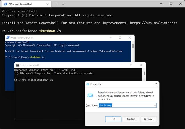 Folosește comanda de închidere din Windows în aplicația pe care o preferi