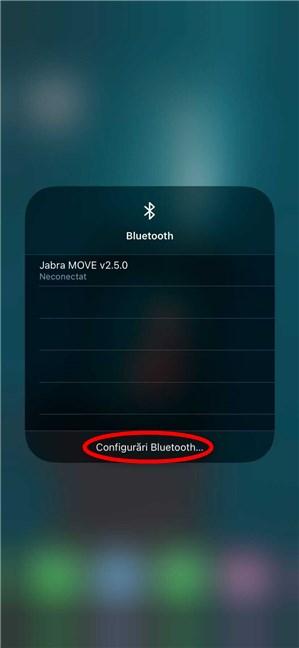 Accesează Configurări Bluetooth