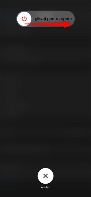 Glisează pentru a opri iPhone 11