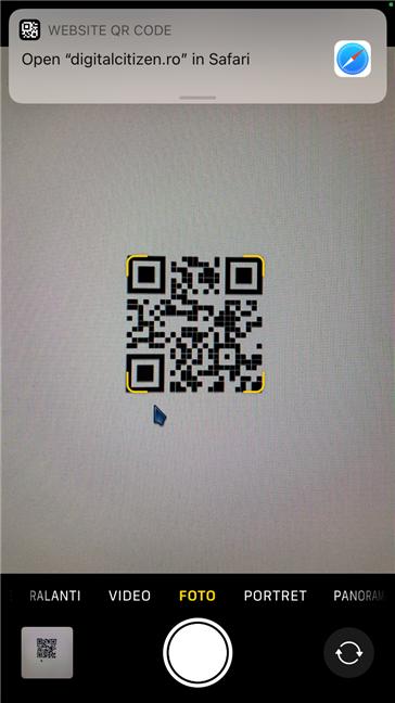 Cel mai bun scaner QR gratuit pentru iPhone este aplicația Cameră