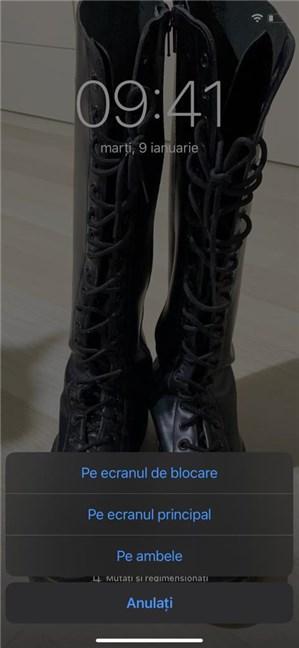 Setează fundalul pe iPhone pentru ecranul de blocare, cel principal sau ambele
