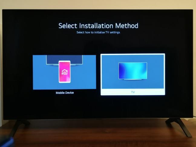 Configurarea inițială a televizorului