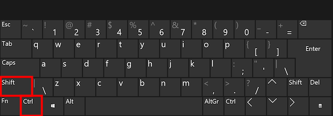 Scurtătura de tastatură pentru a schimba șablonul
