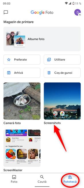 Unde sunt salvate screenshoturile pe Android?