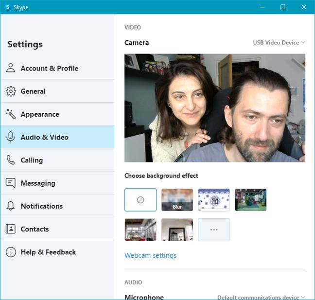 Webcamul Logitech C270 HD în Skype