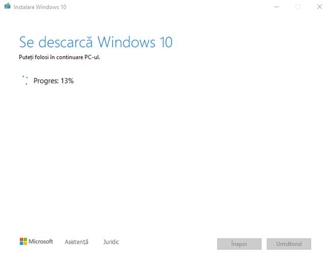 Se descarcă cele mai noi fișiere de instalare pentru Windows 10