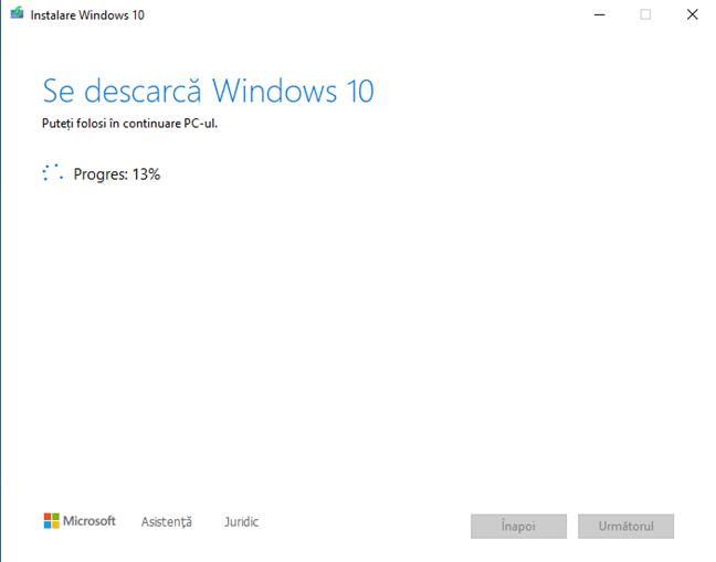 Se descarcă fișierele de instalare pentru Windows 10