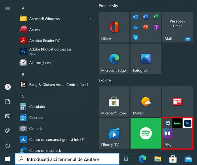 Elimină aplicațiile sugerate din Meniul Start din Windows 10
