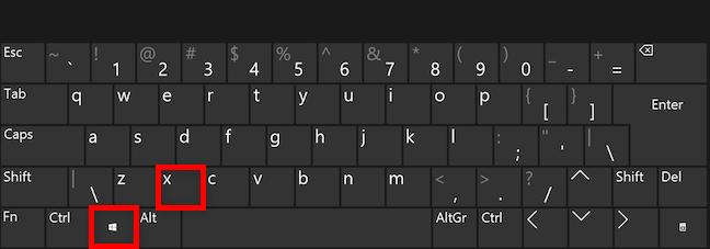 Folosește o combinație de taste pentru a accesa meniul WinX din Windows