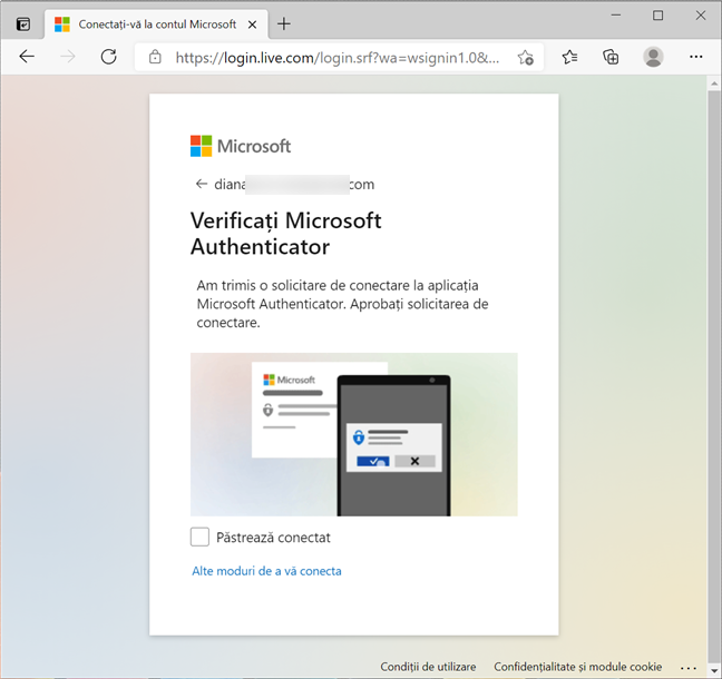 Cum te conectezi la un cont Microsoft fără parolă