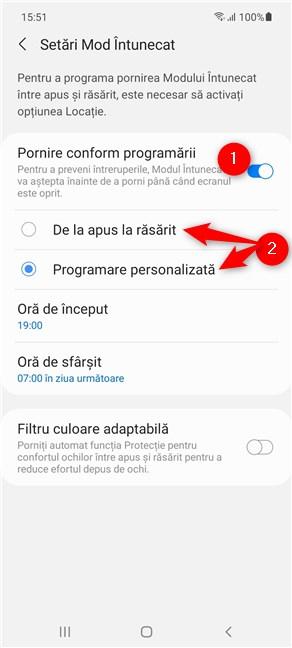 Cum pornești automat Modul Întunecat pe Android