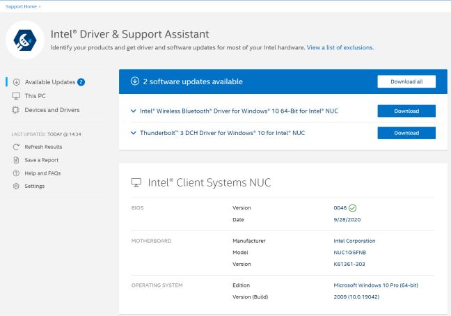 Ar trebui să folosești Intel Driver & Support Assistant