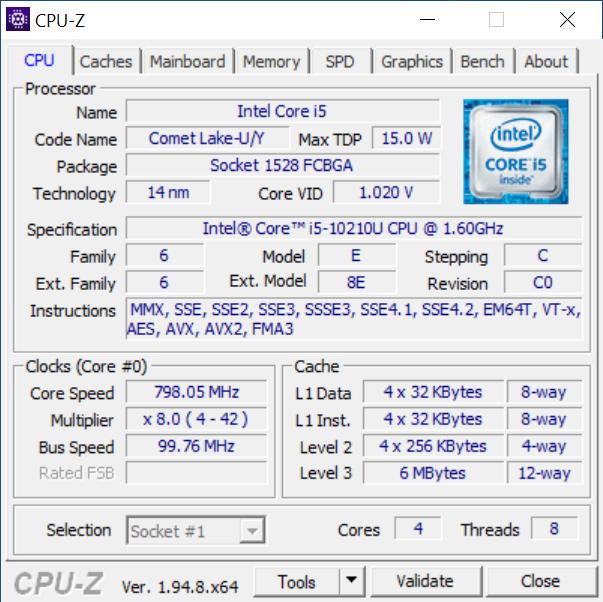 Procesorul dinăuntrul Intel NUC10i5FNH