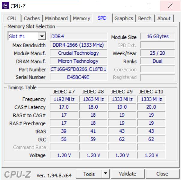 Memoria RAM folosită de Intel NUC10i5FNH