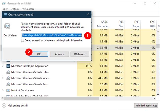 Pornește OneDrive executând %localappdata%\Microsoft\OneDrive\OneDrive.exe