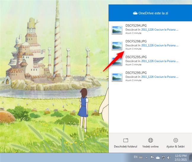 Ultima dată când a fost sincronizat un fișier de OneDrive în Windows 7