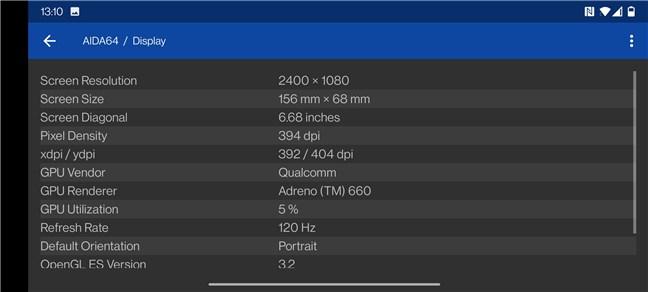 OnePlus 9: Specificații tehnice ecran
