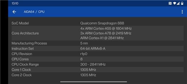 OnePlus 9: Detalii procesor (CPU)
