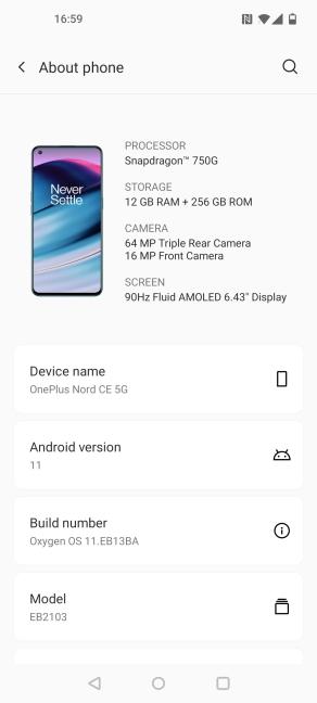 Detalii despre OnePlus Nord CE 5G