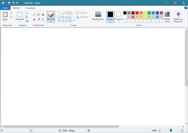 Paint în Windows 10