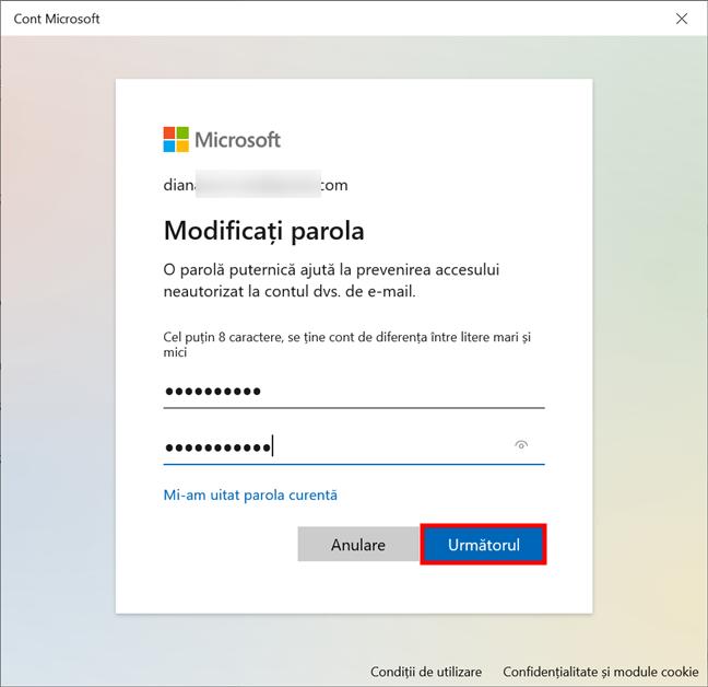Cum schimbi parola contului tău Microsoft din Windows 10