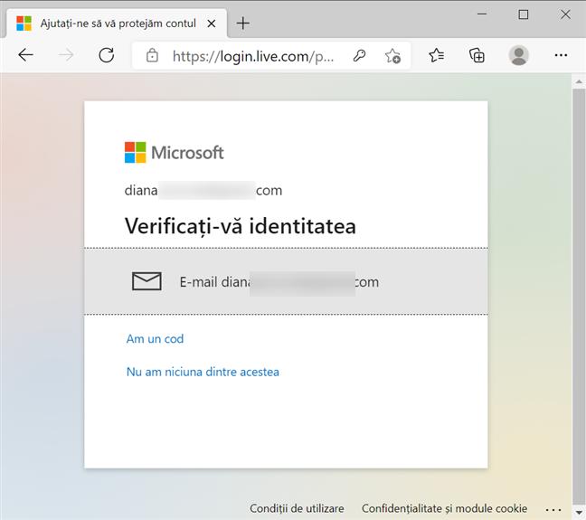 Verifică-ți identitatea cu un e-mail