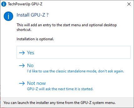 Pornește TechPowerUp GPU-Z