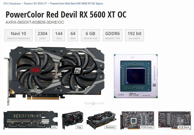 Vezi modelul exact de GPU, producătorul său, etc