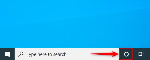 Scurtătura pentru Cortana în Windows 10